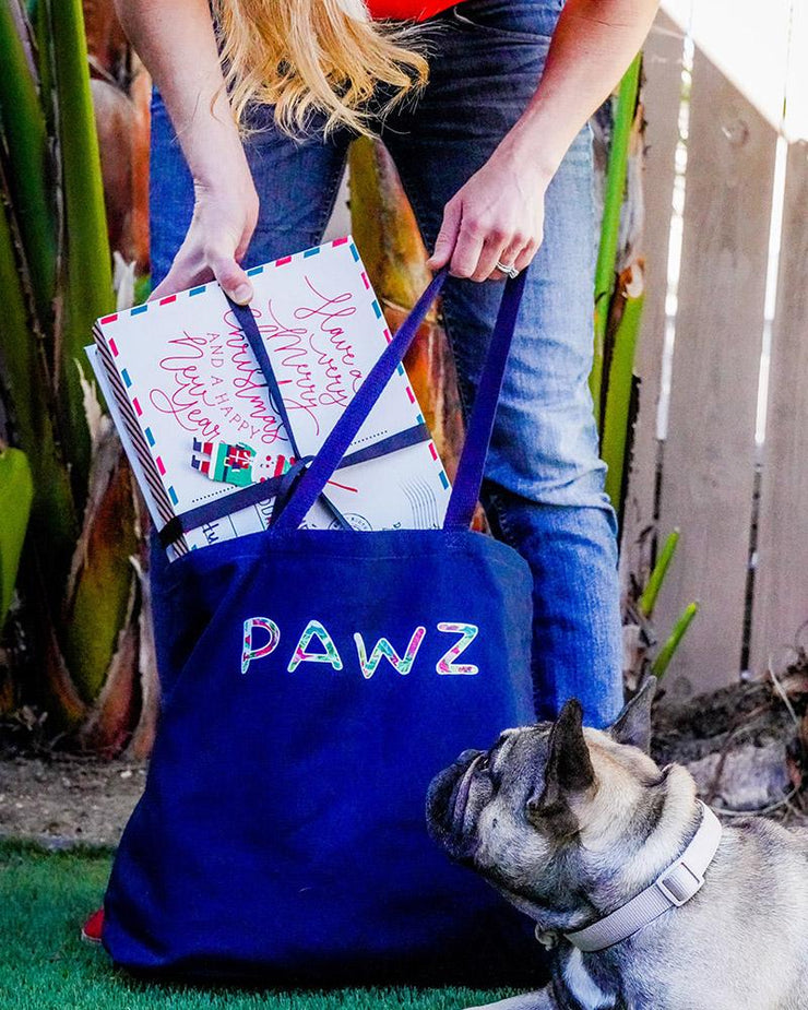 Pawz Poinsettia Bouquet Navy Mystery Tote $170+ Value - Pawz