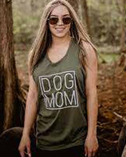 Olive Simple Dog Mom Tank Top - Pawz
