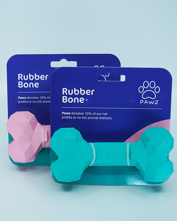 Pawz Rubber Bone Dog Toy - Pawz