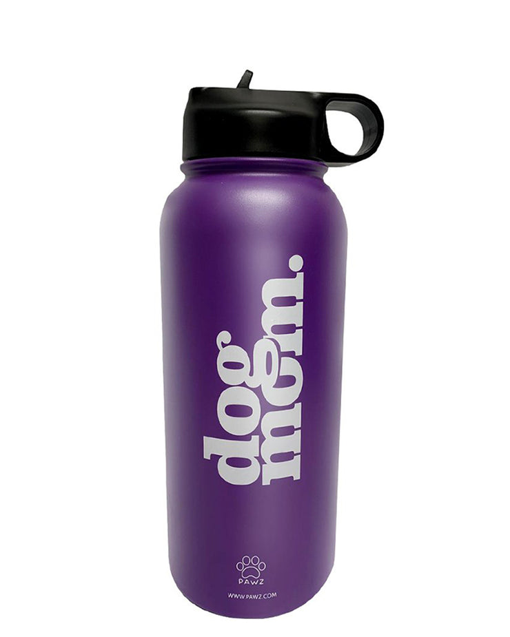 Pawz 32oz Dog Mom Purple Water Bottle - Pawz