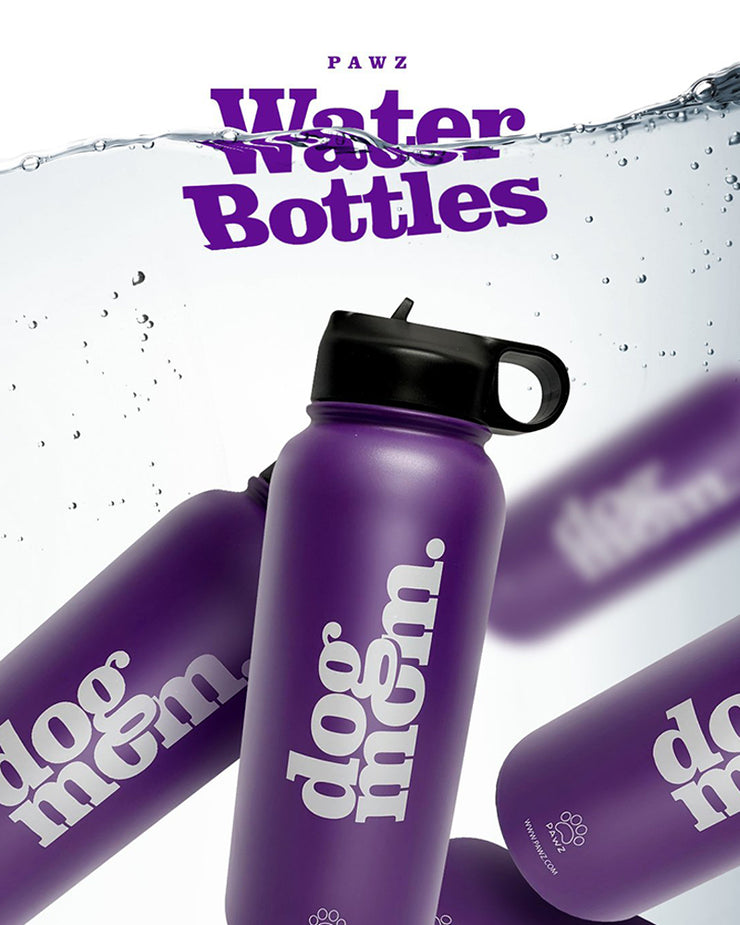 **Special Offer** Pawz 32oz Dog Mom Purple Water Bottle - Pawz