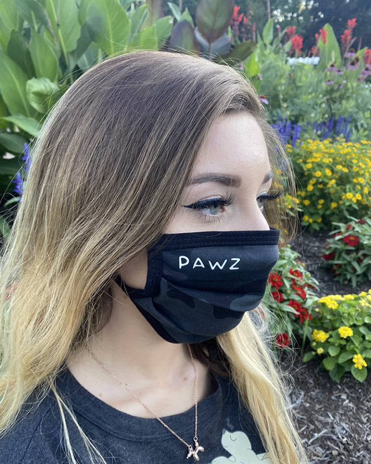 Pawz Black Camo Face Mask - Pawz