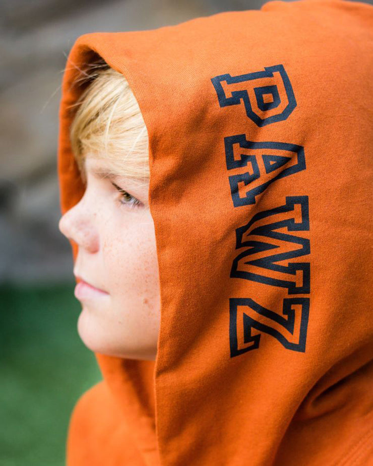 Pawz Burnt Orange Black Classic College Hoodie - Pawz