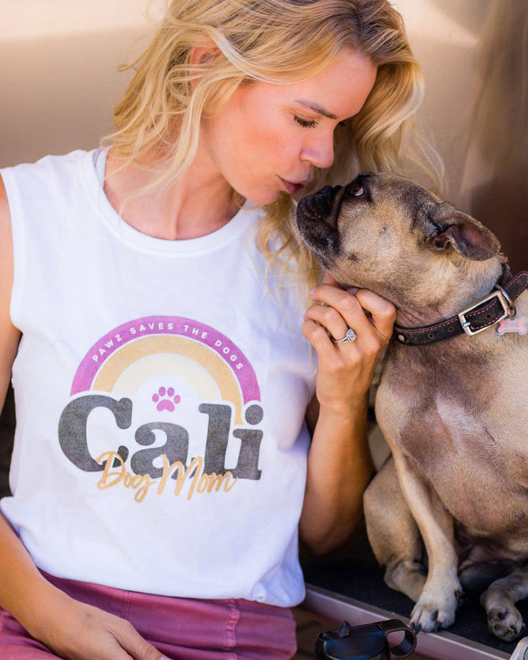 Pawz Cali Dog Mom Muscle Tank - Pawz