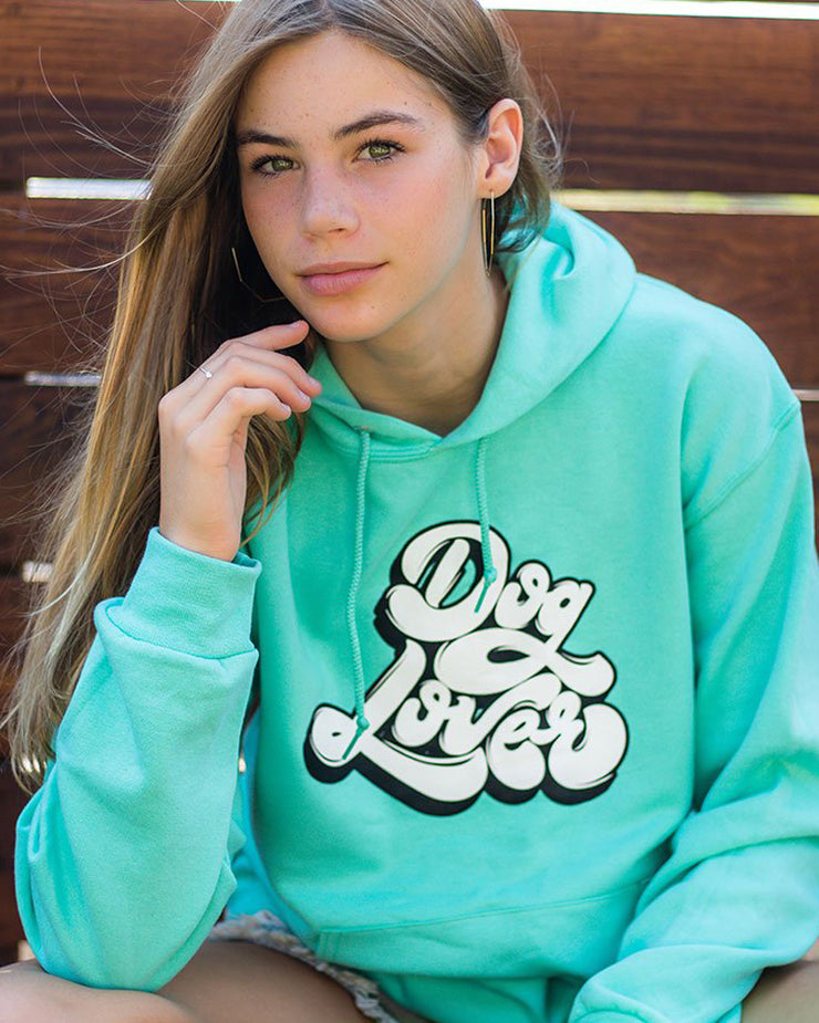 Pawz Cool Mint Dog Lover Front Print Hoodie - Pawz