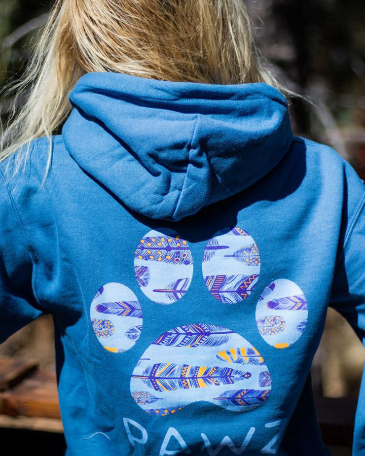 Pawz Indigo Gypsy Feather Hoodie - Pawz