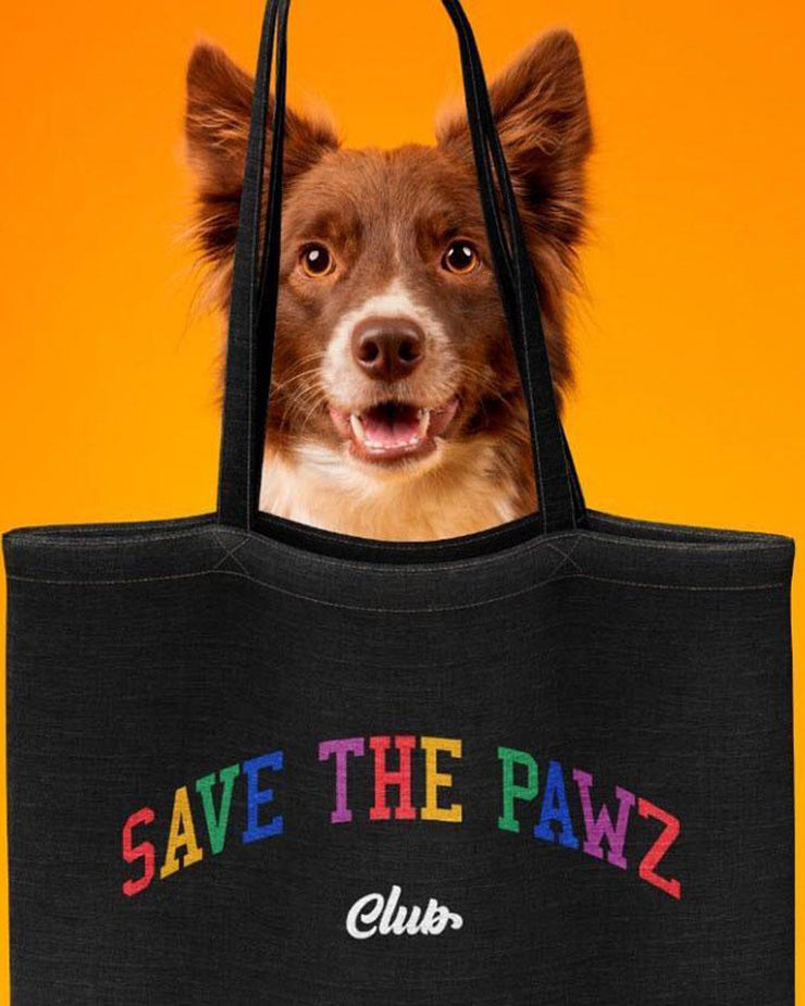 Pawz Mystery Black Save the Pawz Stuffed Tote - Pawz