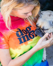 Pawz Striped Tie Dye dog mom. Tee - Pawz