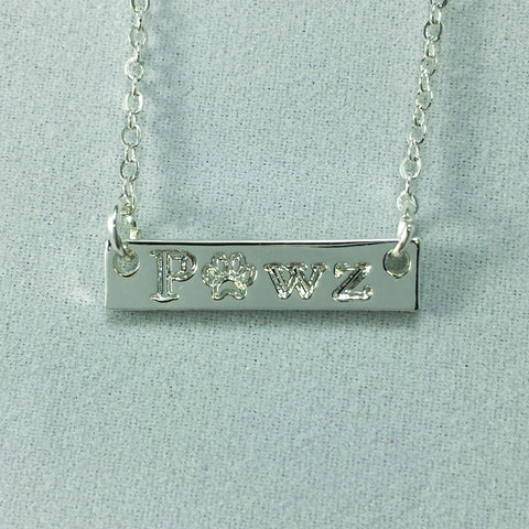 Pawz Bar Necklace