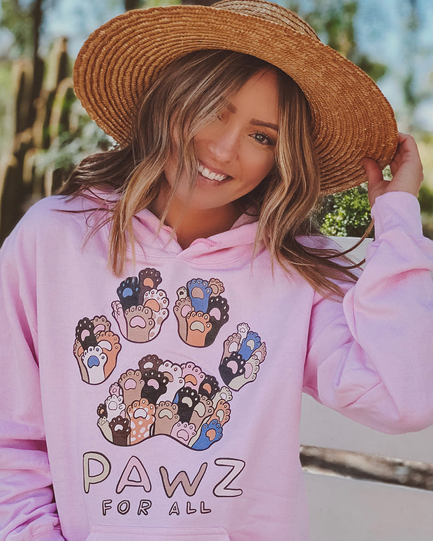 Pawz for All Light Pink Hoodie - Pawz