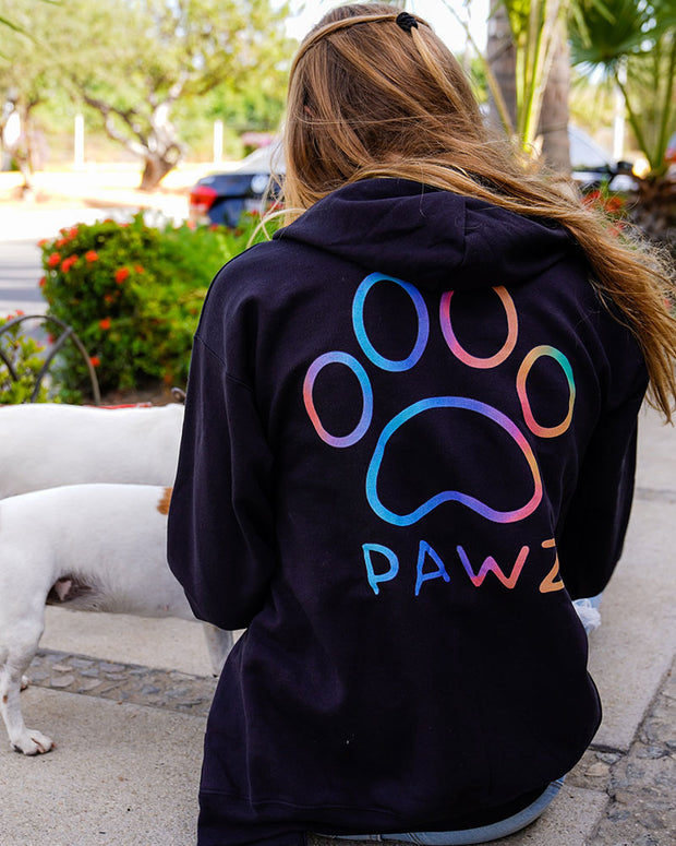 Pawz Classic Rainbow Black Zip Up