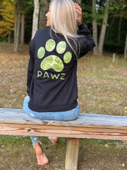 Pawz Sandy Palms Black Long Sleeve - Pawz
