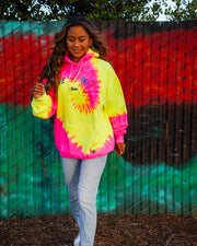 Save the Pawz Club Pink Lemonade Tie Dye Hoodie - Pawz
