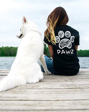 Short Sleeve Black Floral Print - Pawz