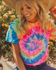 Pawz Sunshine Tie Dye Open Black Swirly Tee - Pawz