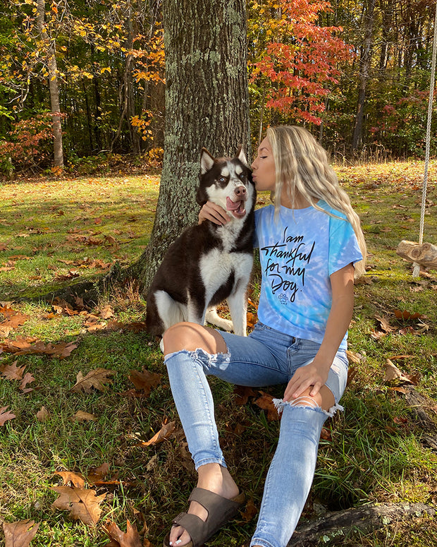 Pawz Thankful for My Dog Caribbean Tie Dye Tee - Pawz