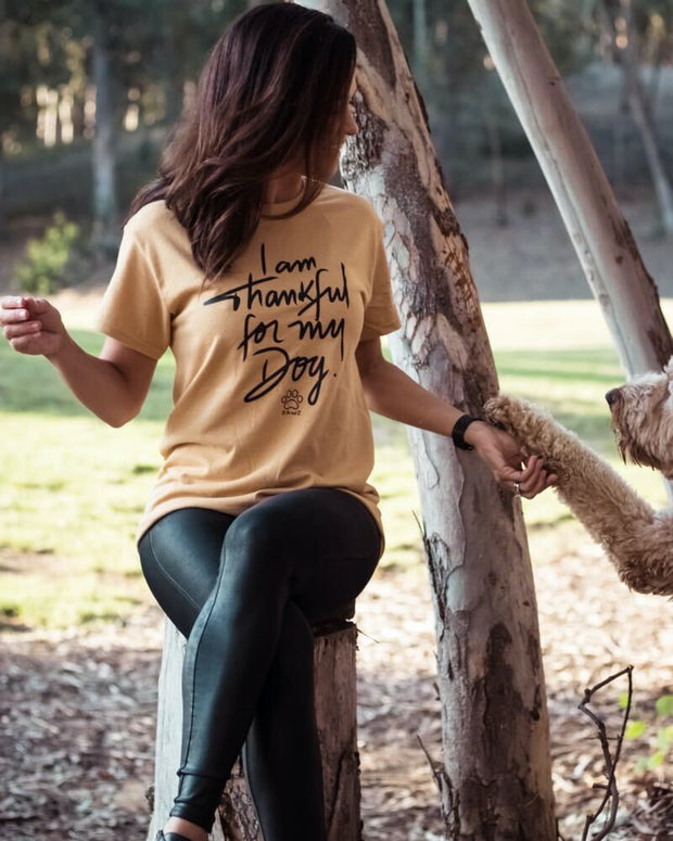 Pawz Thankful for My Dog Mustard Tee - Pawz
