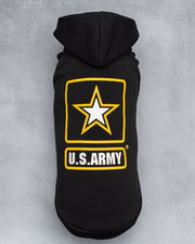 U.S. ARMY HOODED DOG FLEECE - Pawz