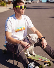 Pawz Men's Enjoy the Ride White Tee - Pawz