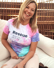 Pawz Rescue Cotton Candy Tie Dye Tee - Pawz