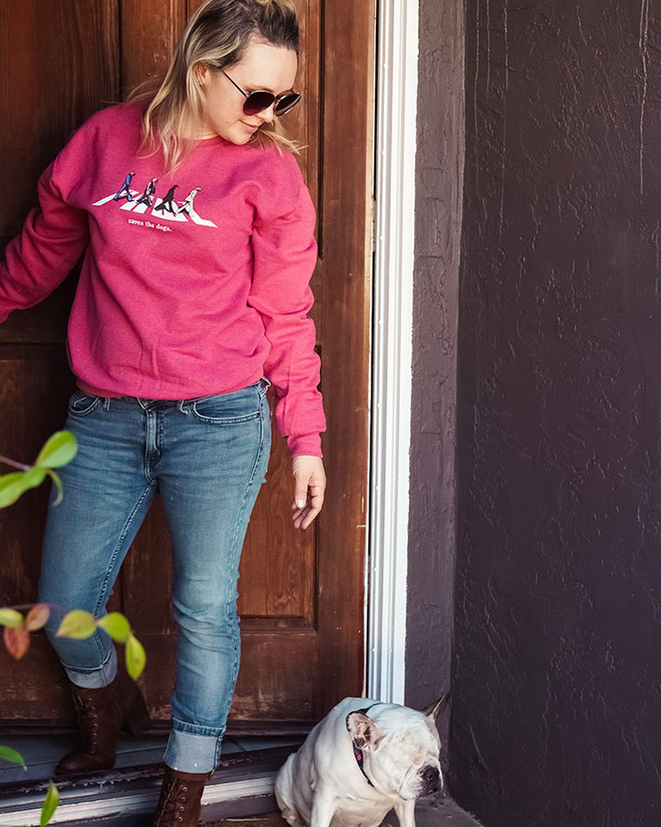 Pawz Road to Rescued Heather Red Crewneck - Pawz