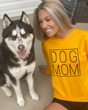 Pawz Simple Dog Mom Black Print Gold Crewneck - Pawz