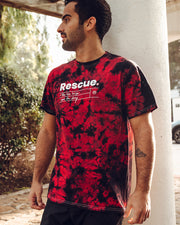 Pawz Rescue Black & Red Acid Wash Tee - Pawz