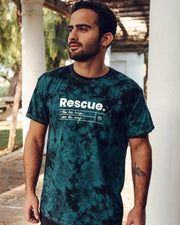 Pawz Rescue Black & Teal Acid Wash Tee - Pawz