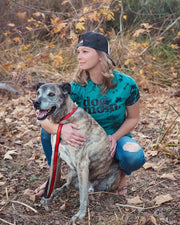 Pawz dog mom. Black & Teal Acid Wash Tee - Pawz