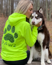 Pawz Celtic Knot Print Safety Green Hoodie - Pawz