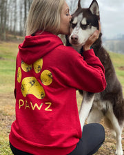 Pawz Antique Cherry Yellow Beez Print Hoodie - Pawz