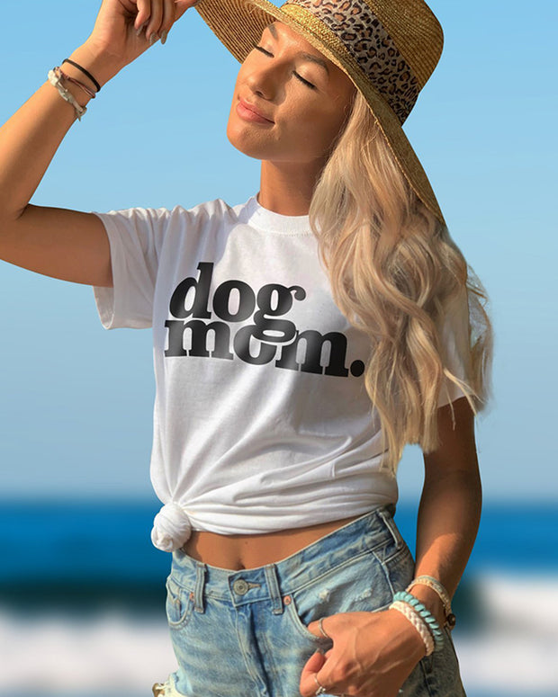 Pawz dog mom. White Tee - Pawz