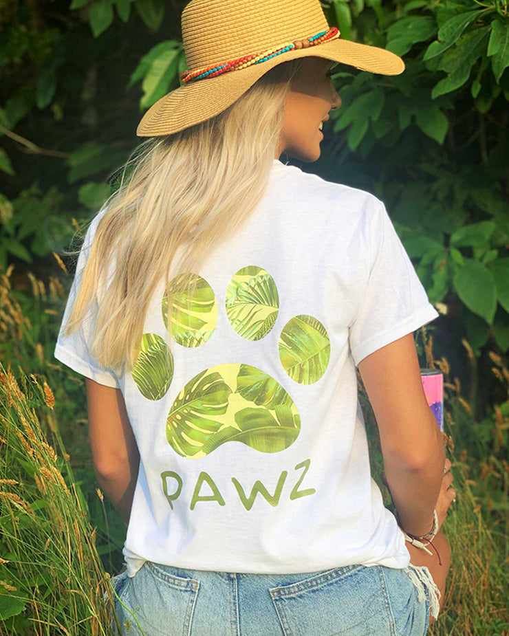 White Sandy Palms Tee - Pawz