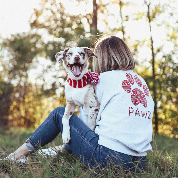 Pawz Knitted Star Pattern Ash Crewneck - Pawz