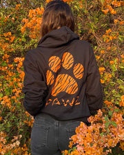 Pawz Tiger Print Black Zip Up Hoodie