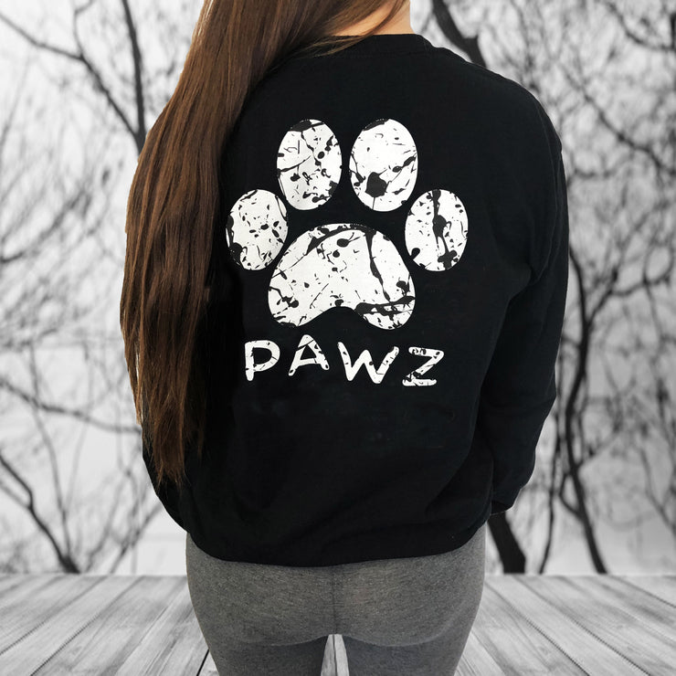 Long Sleeve Black Splatter Print - Pawz