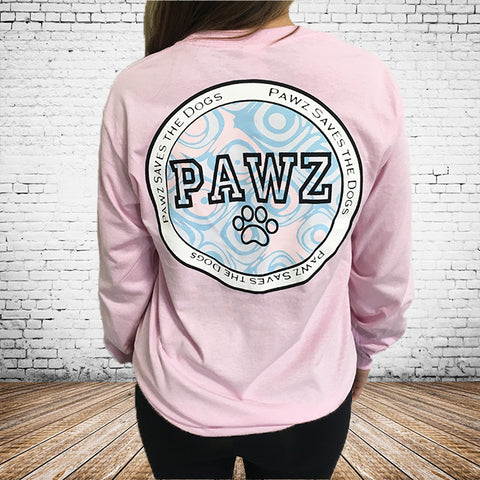 Long Sleeve Grapefruit Varsity Coin Print