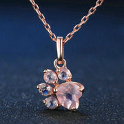 Rose Gold Quartz Pawz Necklace - Pawz
