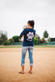 Pawz White Tribal Print Navy Long Sleeve - Pawz