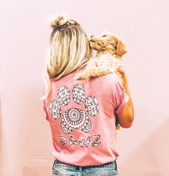 Short Sleeve Grapefruit Kaleidoscope Print