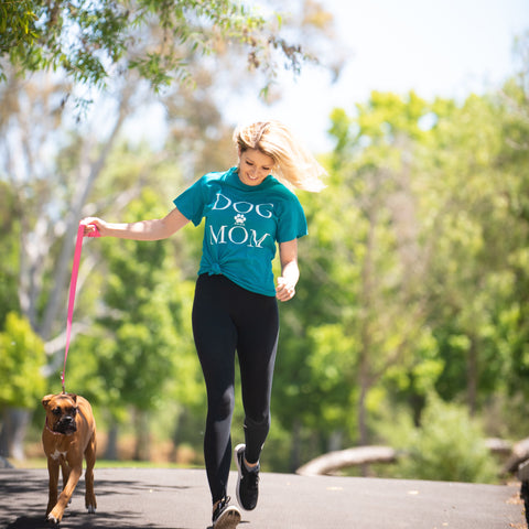 Short Sleeve Teal Dog Mom Tee