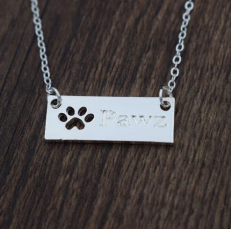 Pawz Silver Brick Necklace