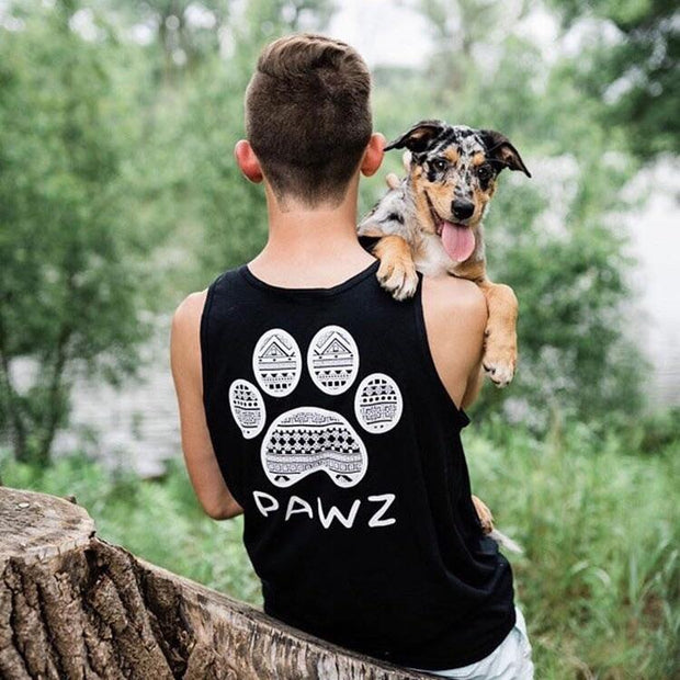 Men's Black Tribal Tank - Pawz