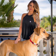 Simple Black Flowy Tank Top - Pawz