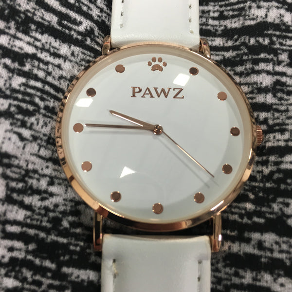 Limited Edition White Gold Pawz Watch