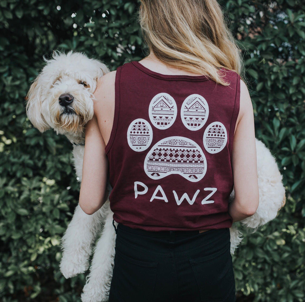 Maroon Tribal Tank Top - Pawz