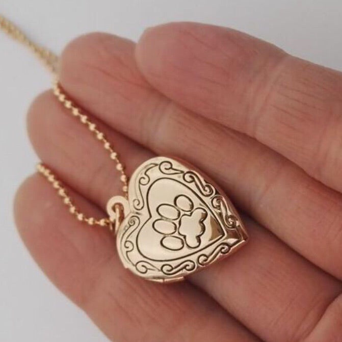 Pawz Heart Locket Necklace - Pawz