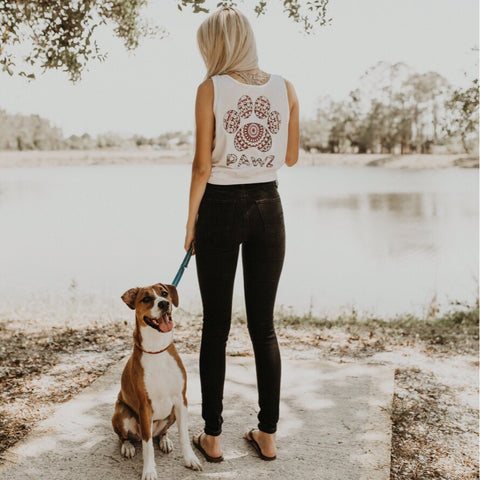 White Kaleidoscope Tank Top - Pawz