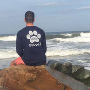 Pawz Men's White Tribal Navy Long Sleeve - Pawz