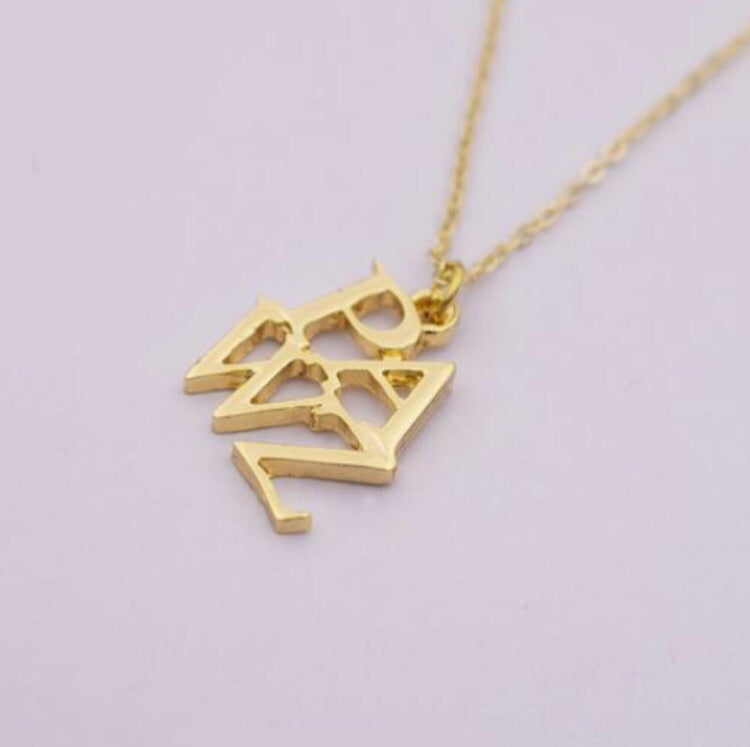 Gold PAWZ lettering necklace - Pawz